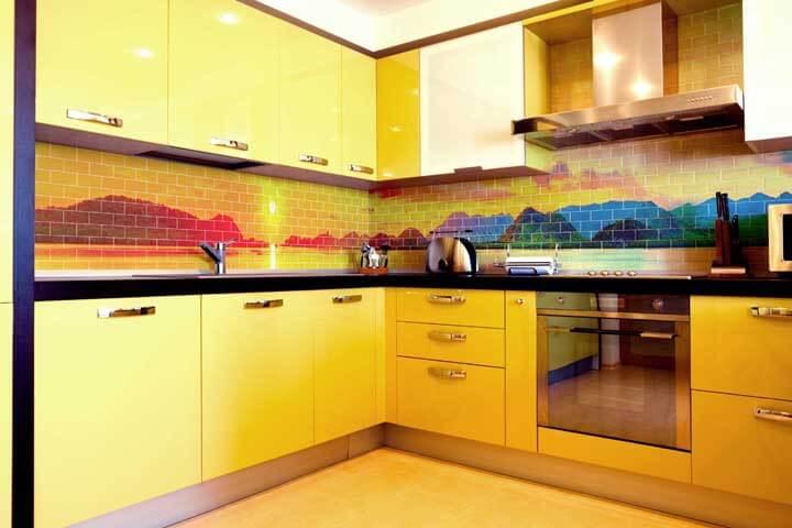 красивая фотоплитка на кухню