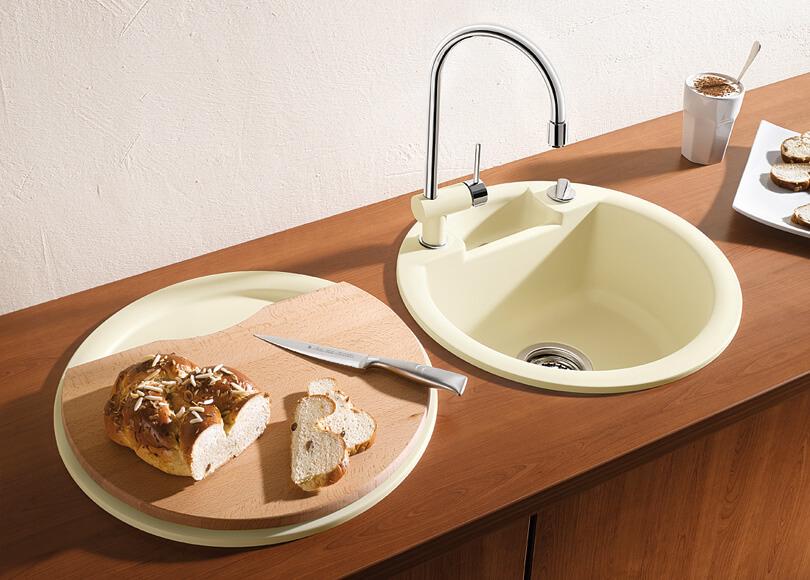 круглая раковина для кухни бланко