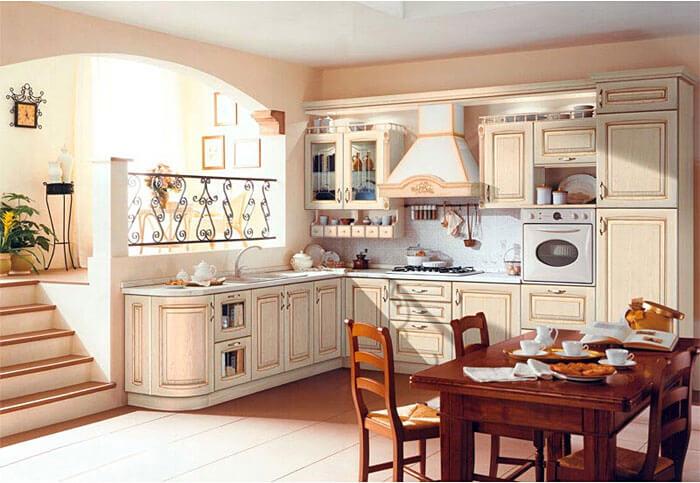 кухня позитана фасад массив и шпон ясеня