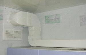 пластиковая труба для вытяжки на кухне