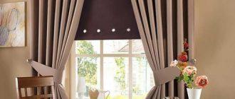 шторы для кухни с люверсами своими руками
