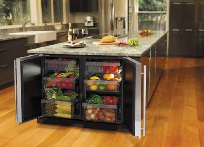 встроеный холодильник