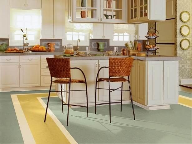 искусственный линолеум на кухню