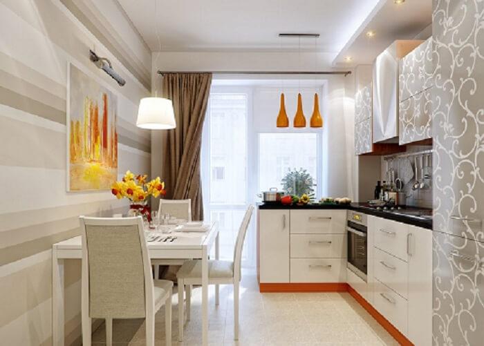 кухня обеденная зона