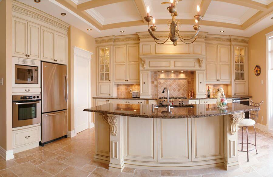 Кухни слоновая кость в интерьере фото