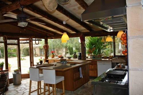 летняя кухня барбекю фото
