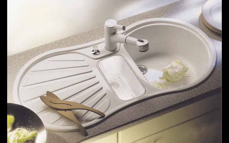 Недорогие кухонные мойки из керамогранита — photo 1