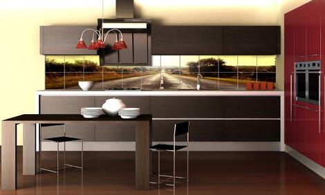 фотоплитка на кухне