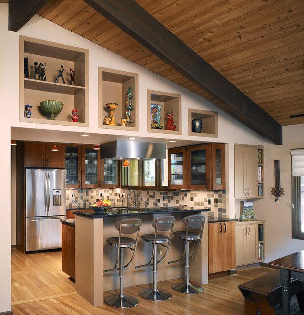 Дизайн кухни частного дома своими руками