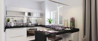 кухня п-образная фото