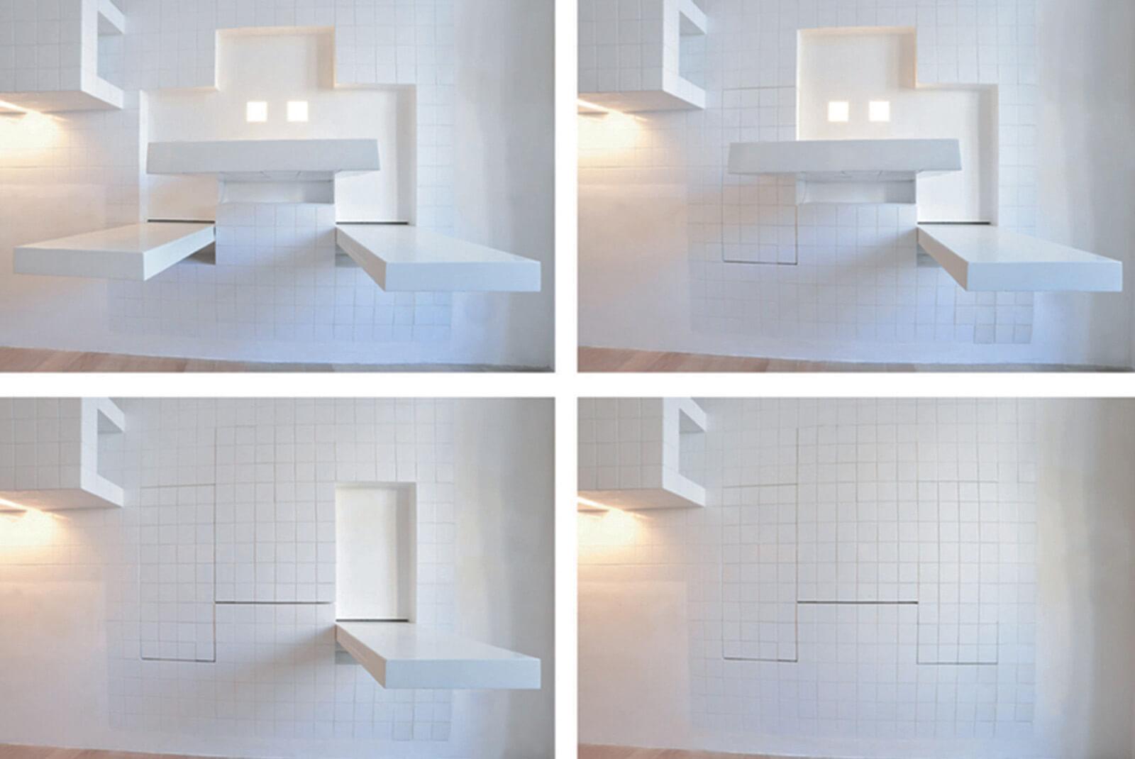 раздвижной кухонный стол необычный