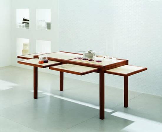 деревянный стол трансформер для кухни