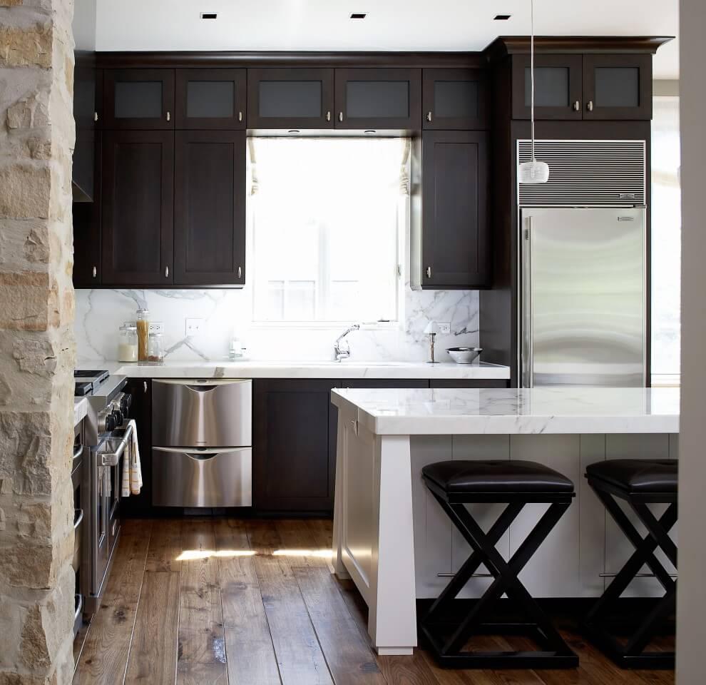 гостиная и кухня интерьер совмещен
