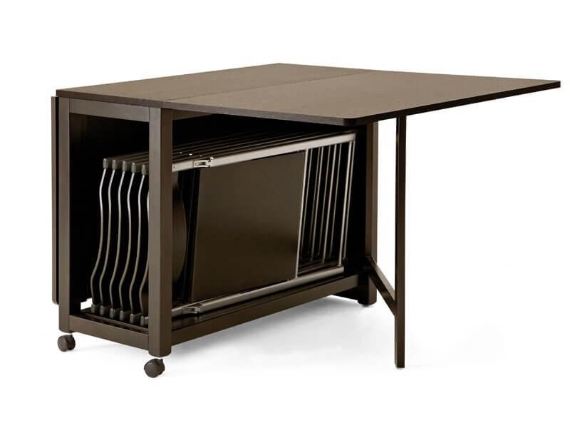 стулья хранятся в столе-трансформере фото