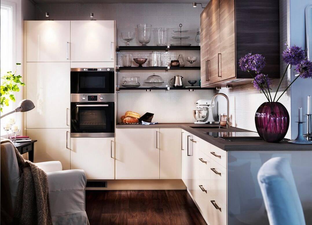 дизайн кухни с гостиной