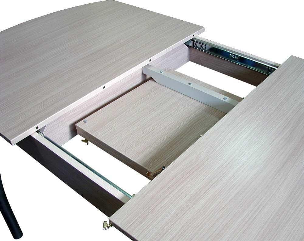 устройство раздвижного стола для кухни