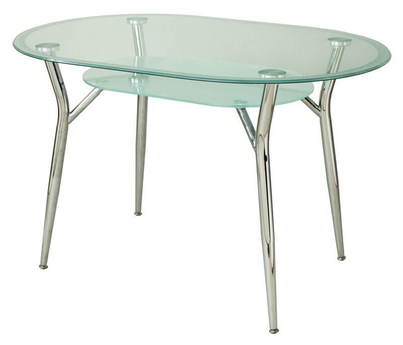 овальный стол стеклянный для кухни