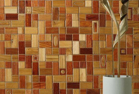 деревянная мозаика для кухни