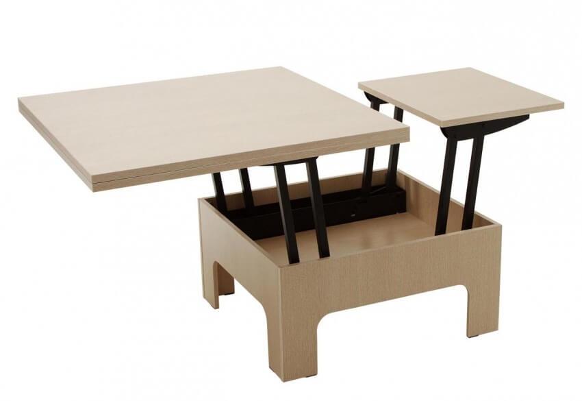 стол трансформер квадратный для кухни