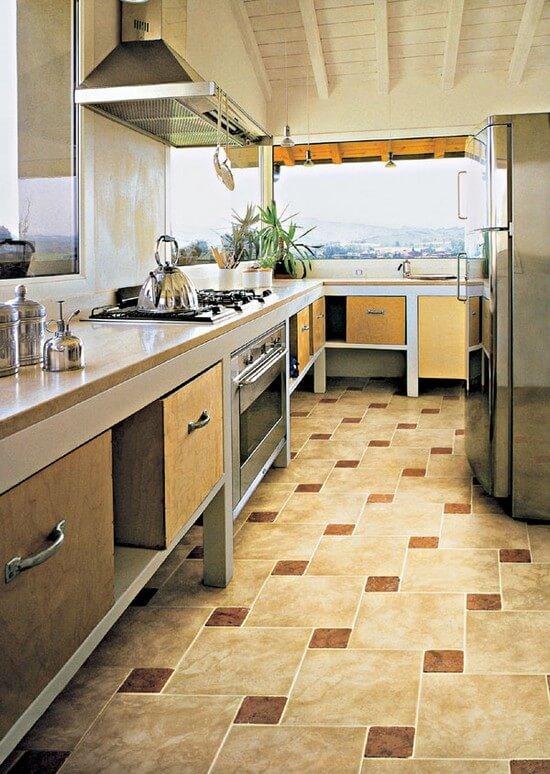 напольная плитка для кухни жизненно необходима