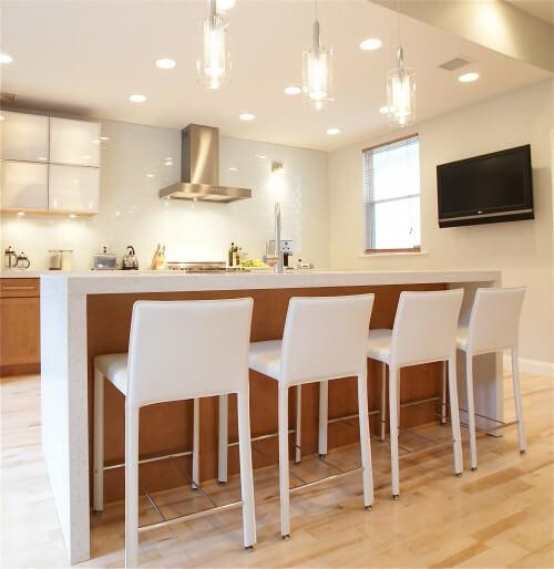Какая высота барной стойки на кухне?