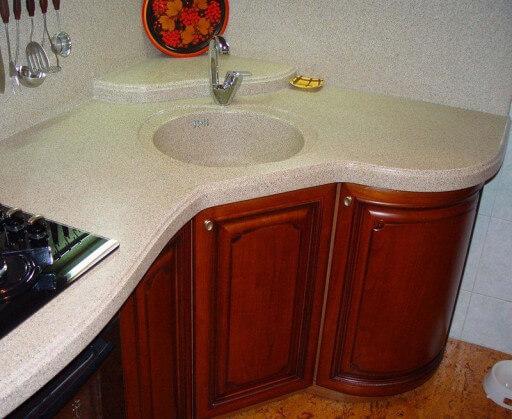 угловая гранитная раковина для кухни