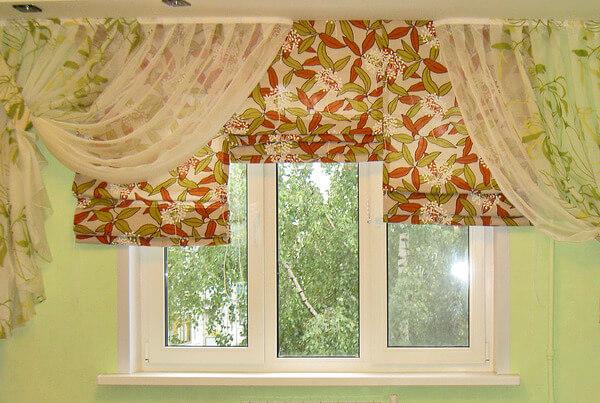 короткие шторы