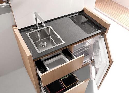 Мебель экономящая пространство на кухне возможна