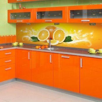 Оранжевая кухня - прекрасный вариант!