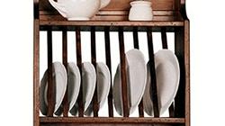 деревянная сушилка для посуды