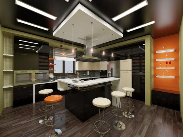 потолочные кухонные светильники