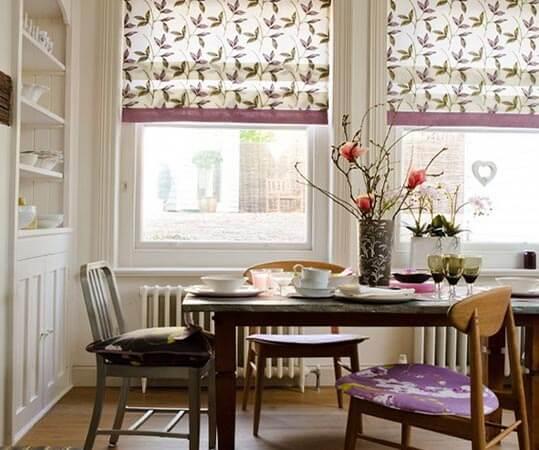шторы короткие для кухни