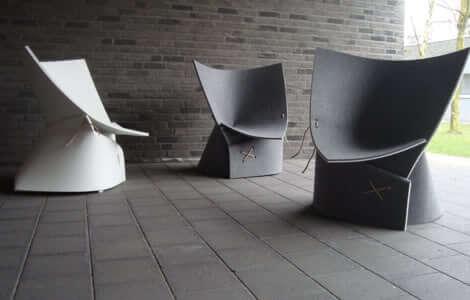 Кресло из войлочных листов