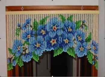 шторы с рисунком из цветов
