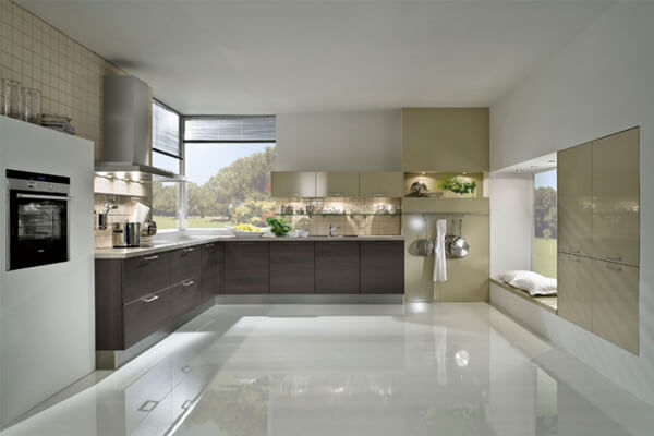 Фото жидкого линолеума на кухне