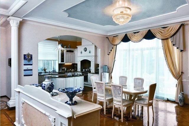 Ламбрикен для штор на кухню