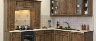 Размеры фасадов кухни