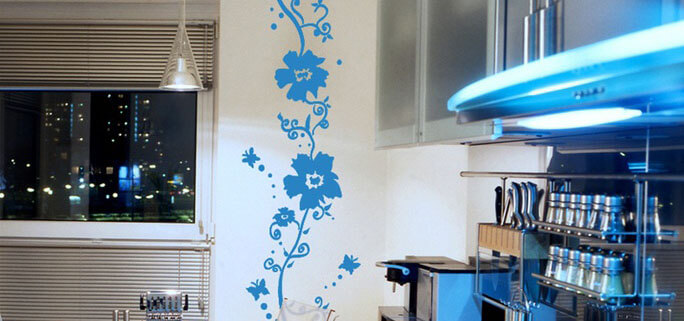 рисунок на кухонной стене