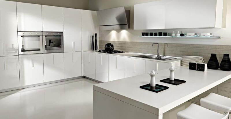 цветовое решение кухни белый