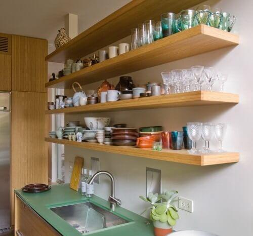деревянные полки для кухонь
