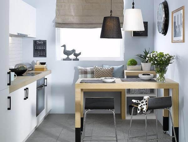 эргономичная расстановка мебели для маленькой кухни