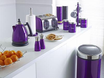 фиолетовые кухонные приборы