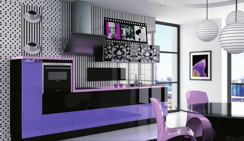 фото кухни фиолетового цвета