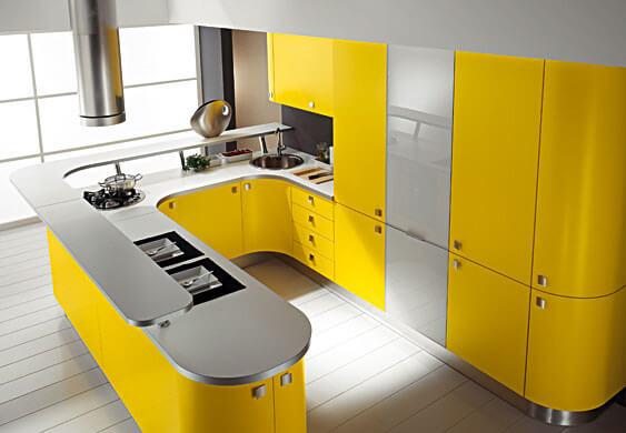 кухня в стиле хай тек 16 кв. метров