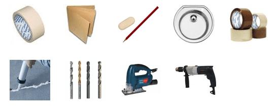 инструменты для установки раковины