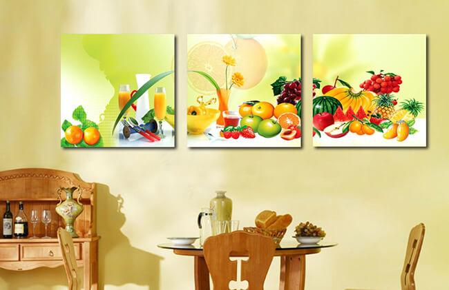 декорирование с помощью картин