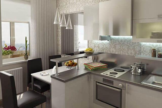 кухни с барной стойкой дизайн