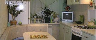 Фото кухни площадью 9 квадратных метров