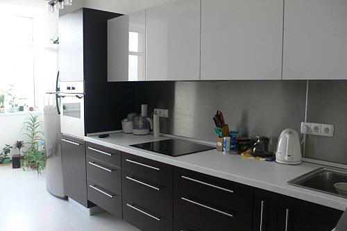 Стиль модерн на кухне. Фото.