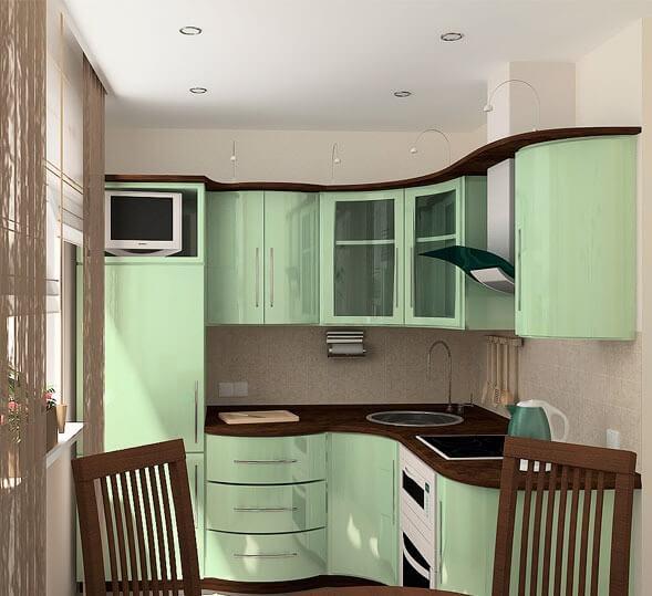 кухня 6 кв. метров планировка